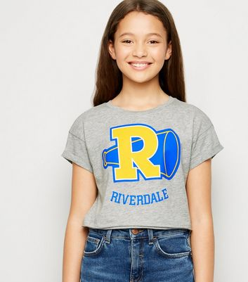 "Girls – Graues T-Shirt mit ""Riverdale""-Slogan"