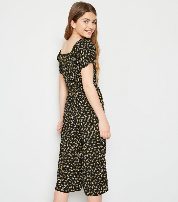 2fdfa259ffb ... Girls Black Floral Square Neck Jumpsuit. ×. ×. ×. Shop the look. New  Today!