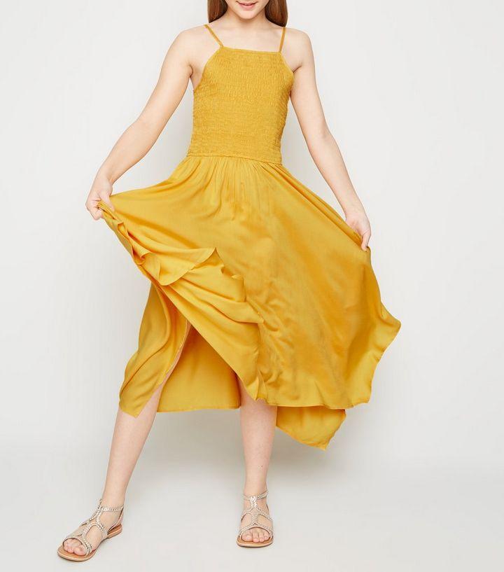 e7d6c3e29 ... Girls Mustard High Neck Hanky Hem Dress. ×. ×. ×. Shop the look