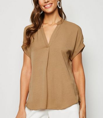 Camel Short Sleeve Overhead Shirt
