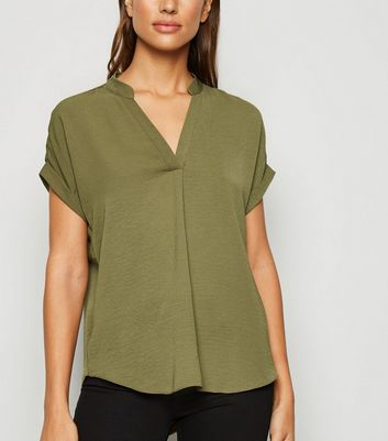 Khaki Short Sleeve Overhead Shirt