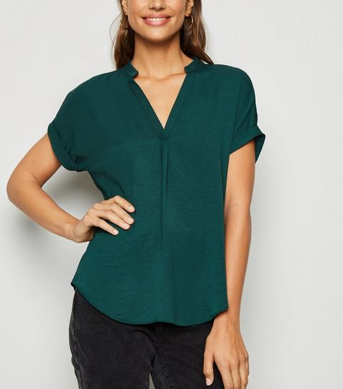 f7dd47da6c5 Green Tops | Khaki, Lime & Emerald Green Tops | New Look