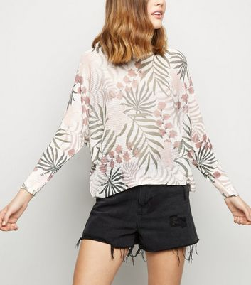 Cameo Rose Pink Leaf Fine Knit Jumper