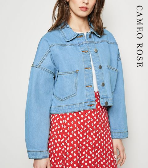 d5f30163f06 ... Cameo Rose Bright Blue Oversized Denim Jacket ...