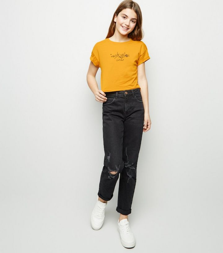 93038a7368bc ... Girls Mustard Space Get Lost Slogan T-Shirt. ×. ×. ×. Shop the look