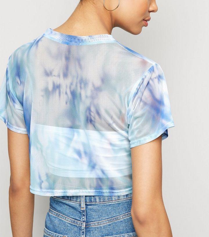 b58f6b5a49394e ... Blue Tie Dye Mesh Crop Top. ×. ×. ×. Shop the look