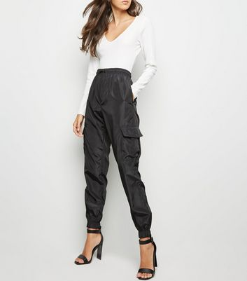 Cameo Rose Black Cuffed Utility Trousers