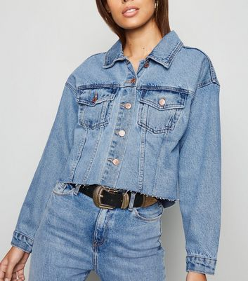Blue Crop Denim Jacket