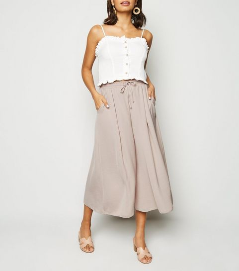 a718655ea6f ... Pale Pink Wide Leg Crop Trousers ...