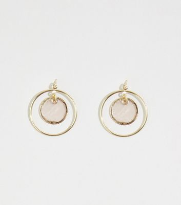 Mid Pink Shell Disc Earrings