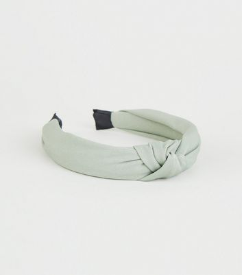 Green Knot Top Alice Headband by New Look