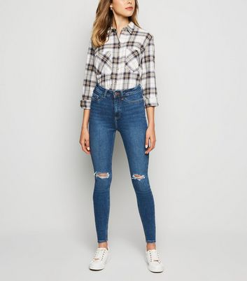 Blue Ripped Super Skinny Hallie Jeans