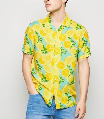 Yellow Lemon Short Sleeve Shirt