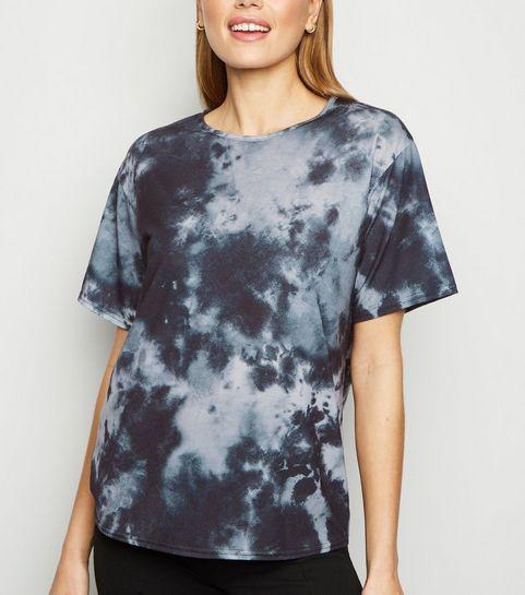 bafa9537226a8 ... Carpe Diem Blue Tie Dye Oversized T-Shirt ...