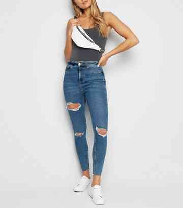 f7b9c24647c5 Dark Grey Black. Blue Ripped Super Skinny Hallie Jeans ...