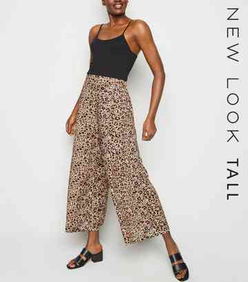 Tall Brown Leopard Print Crop Trousers