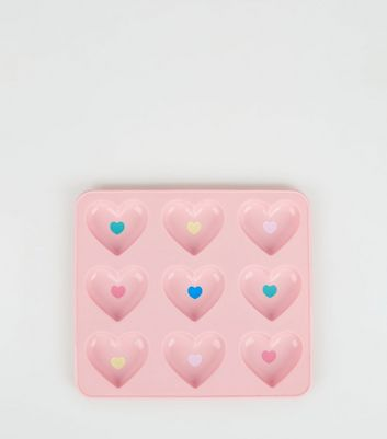 Pink Silicone Heart Chocolate Mould Tray