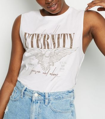 White Eternity Eagle Slogan Vest