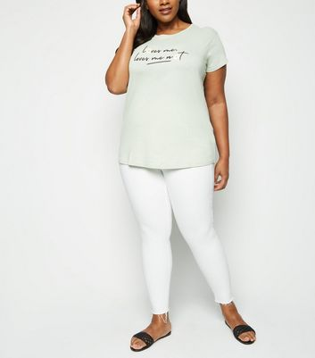 Curves White High Waist Super Skinny Jeans