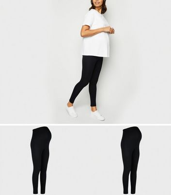 Maternity 2 Pack Black Lightweight Leggings