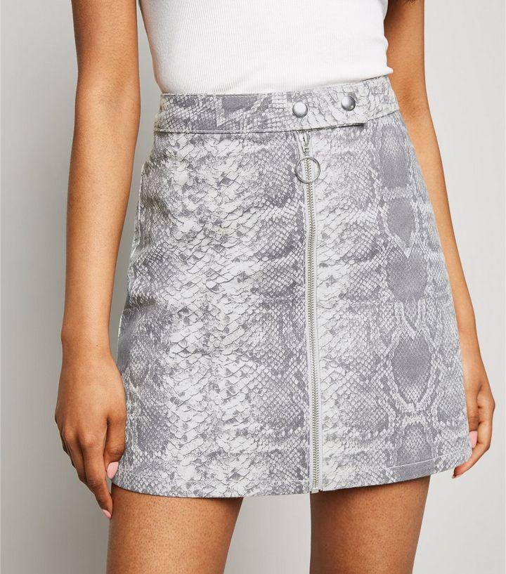 22b2ffff7170 ... Petite Light Green Snake Print Denim Skirt. ×. ×. ×. Shop the look
