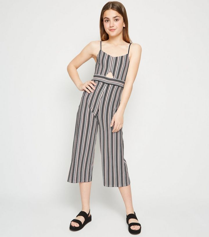 4a30d2b45f Girls Pink Stripe Cut Out Jumpsuit | New Look