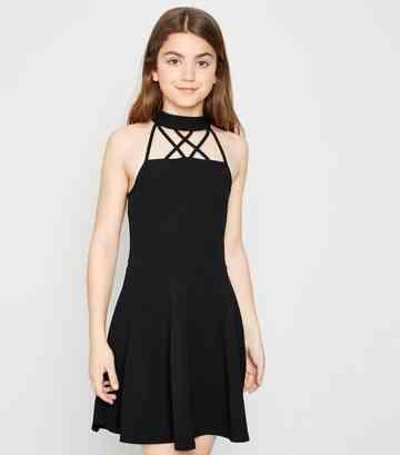 7750d24cb Girls' Skater Dresses | Lace & Floral Skater Dresses | New Look