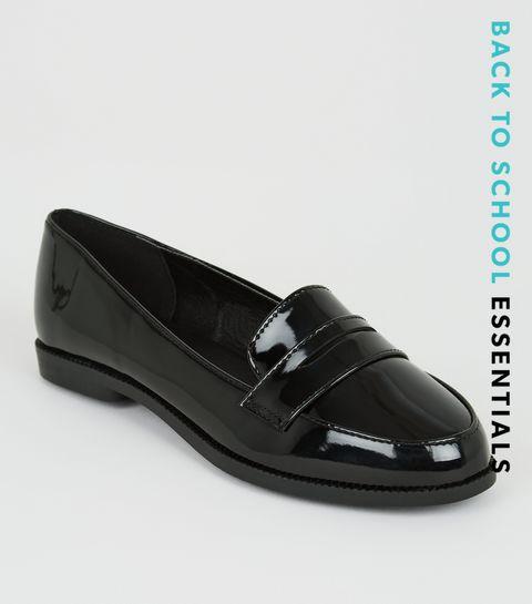 c7d7faf61 Girls Black Patent Loafers · Girls Black Patent Loafers ...