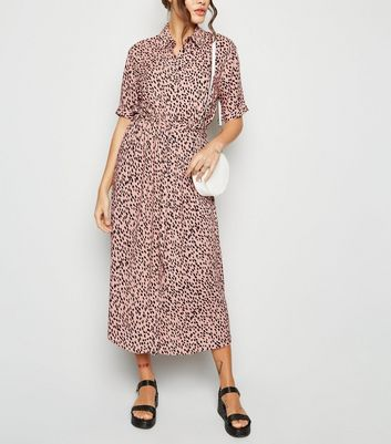 Tall Pink Spot Midi Shirt Dress