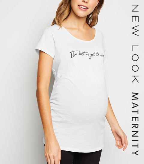 c058fec9792 ... Maternité - T-shirt blanc à slogan The Best ...