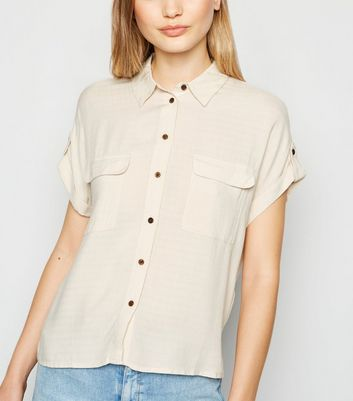 Stone Short Sleeve Utility Shirt