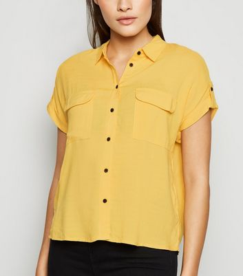 Yellow Short Sleeve Utility Shirt