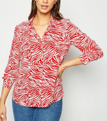 Red Zebra Print Shirt