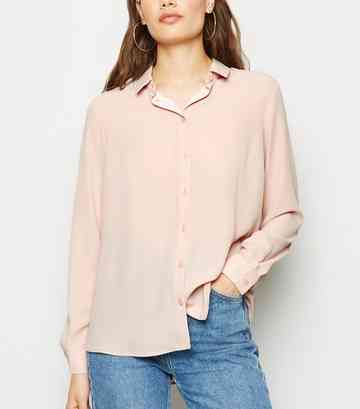 Pale Pink Long Sleeve Shirt