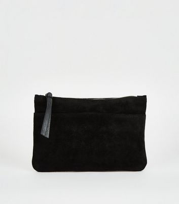 Black Suede Cross Body Bag