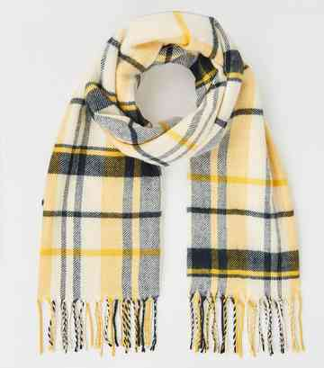Yellow Check Scarf