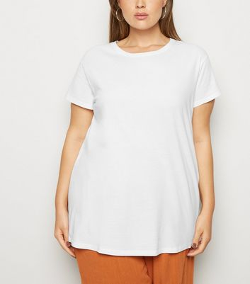 Curves White Organic Cotton T-Shirt