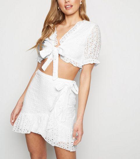 df99472257b ... Parisian White Broderie Crop and Skirt Set ...