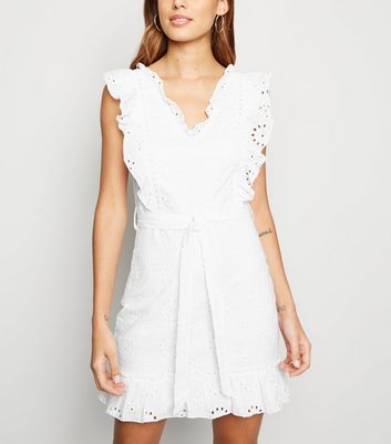 Parisian White Broderie Frill Dress