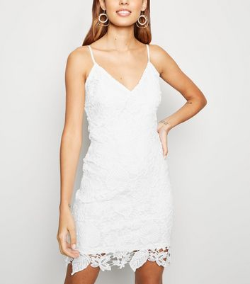 Parisian White Crochet Bodycon Dress