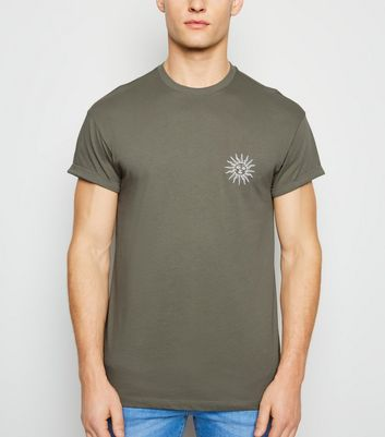 Olive Sun Embroidered T-Shirt