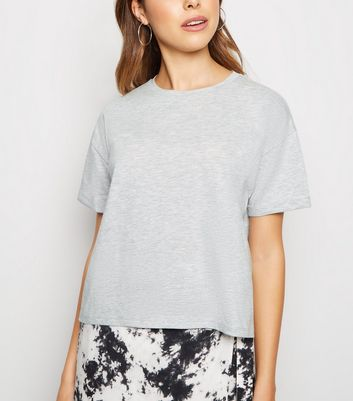 Grey Marl Boxy Crop T-Shirt