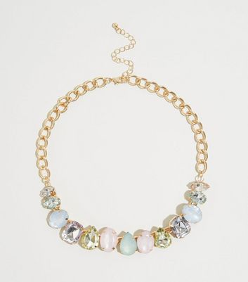 Multicoloured Pastel Gem Necklace