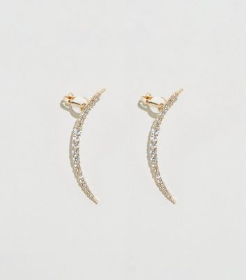 2 Pack Gold Diamanté Ear Cuffs