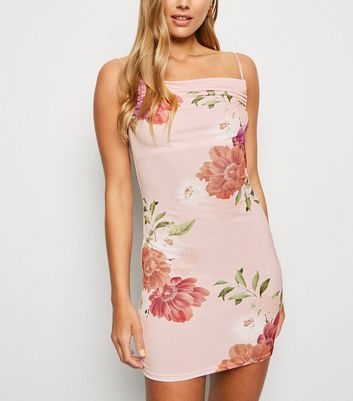Carpe Diem Pink Floral Mini Slip Dress