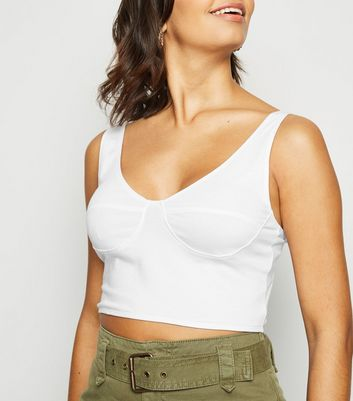 White Seam Cupped Bralette