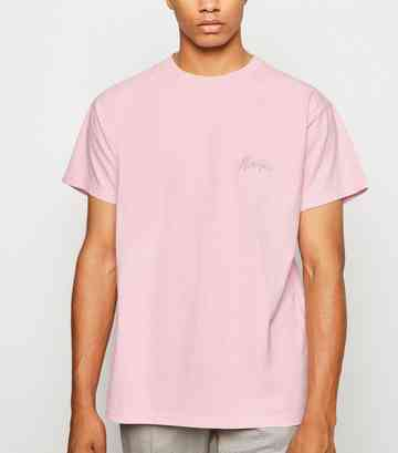 Pink Washed Atlanta Embroidered Slogan T-Shirt