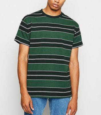 Green Stripe Oversized T-Shirt