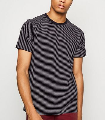 Black Stripe Ringer T-Shirt