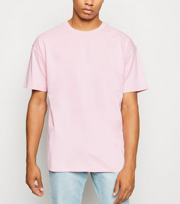 Pale Pink Oversized Cotton T-Shirt